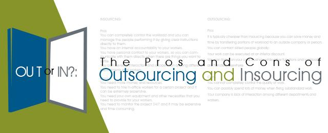 pros and cons of outsourcing essays